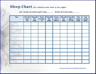 sleep chart detailed thumb