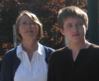 Doug at 17 standing beside Martha, his mother