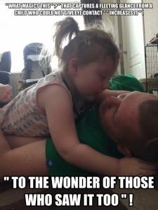 Autism parent help TAGteach eye contact